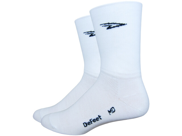 """DeFeet Aireator 5"""" Double Tied Socks d-logo/white"""